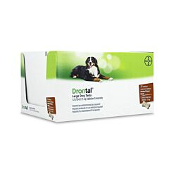 Drontal Dog Tasty Bone 525/504/175mg Grands Chiens Vermifuge 24 Comprimés