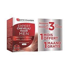 Forté Pharma Expert Cheveux Men Force & Vitalité 180 Gélules PROMO 2+1 GRATUIT