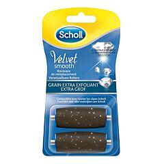 Scholl Velvet Smooth Rouleaux de Remplacement Grain Extra Exfoliant 2 Pièces
