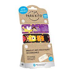 Parakito Kids Bracelets Anti-Moustiques Enfants Fée/Monstres 1+1 + 2 Recharges