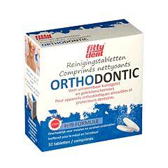 Fittydent Orthodontic Reiniging Kunstgebit/ Gebitsbeschermers 32 Bruistabletten