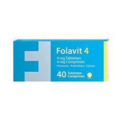 Folavit 4mg Acide Folique 40 Comprimés NF