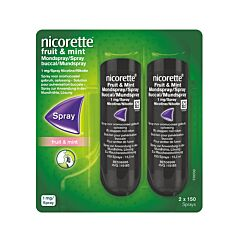 Nicorette Fruit & Mint 1 Mg Spray 2x150 Dosissen