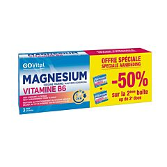 GOVital Magnésium Vitamine B6 45 Comprimés PROMO 2ème -50%