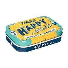 Happy Pills Bonbons à la Menthe Boîte Métalisée 15g