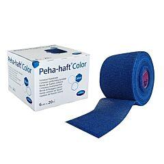Hartmann Peha-Haft Color Latexfree Blue Cohesieve Fixatiezwachtel 6cmx20m 1 Stuk
