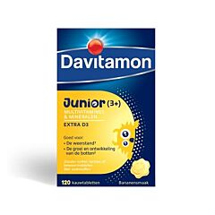 Davitamon Junior 3-6 ans Goût Banane 120 Comprimés à Croquer