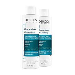 Vichy Dercos Shampooing Ultra Apaisant Cheveux Normaux à Gras Flacon PROMO Duo 2ème à -50% - 2x200ml