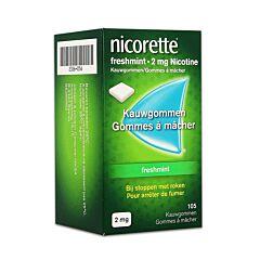 Nicorette Freshmint 2mg Nicotine 105 Gommes à Mâcher