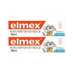 Elmex Dentifrice Enfant 2-6 ans Tube PROMO 2x50ml