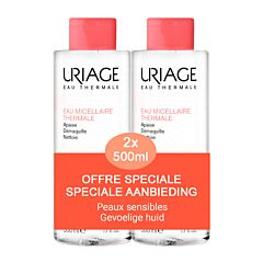 Uriage Micellair Water - Gevoelige Huid Promo 2x500ml