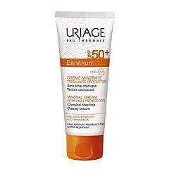 Uriage Bariésun Crème Minérale Très Haute Protection IP50+ Peaux Intolérantes Tube 100ml