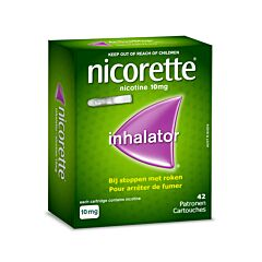 Nicorette Inhaleur 10mg Nicotine 42 Cartouches + 1 Embout Buccal