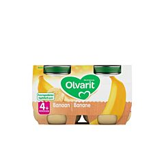Olvarit Fruitpotje Banaan 4M+ 2x125g