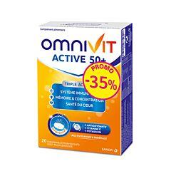Omnivit Active 50+ - 20 Bruistabletten Promo -35%