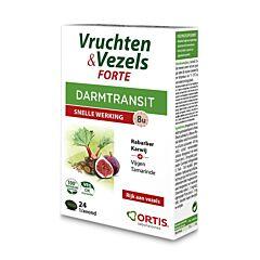 Ortis Fruits & Fibres Forte Transit Intestinal Action Rapide 24 Comprimés