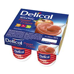 Delical NutraPote Appel/ Aardbei 4x125g