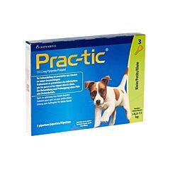 Prac-tic Spot-on Kleine Hond 4,5-11kg Anti-Vlooien/Teken 3 Pipetten