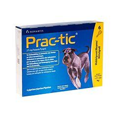 Prac-tic Spot-on Middelgrote Hond 11-22kg Anti-Vlooien/Teken 6 Pipetten