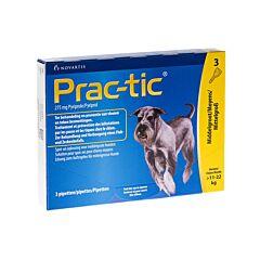 Prac-tic Spot-on Middelgrote Hond 11-22kg Anti-Vlooien/Teken 3 Pipetten