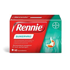 Rennie Mint Zonder Suiker 60 Kauwtabletten