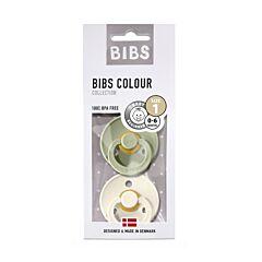 Bibs Sucettes 0-6m Sage/Ivory 2 Pièces