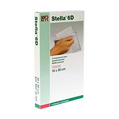 Stella 6D Steriele Gaaskompressen 10x20cm 5 Stuks