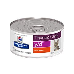 Hills Prescription Diet Thyroid Care Y/D Kattenvoer Kip 156g