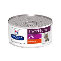 Hills Prescription Diet Feline Thyroid Care y/d au Poulet 156g