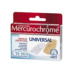 Mercurochrome Universal Pansement 20 Pièces