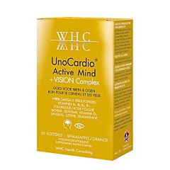 UnoCardio Active Mind + Vision Complex 30 Softgels