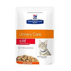Hills Prescription Diet Feline Urinary Care Stress c/d au Poulet 12x85g