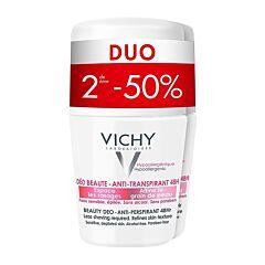 Vichy Deo Anti-Transpiratie Beauty Roller 48u Duo 2e -50% 2x50ml