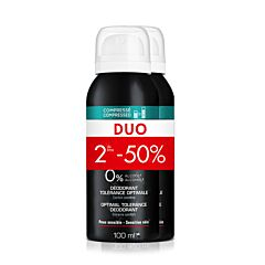 Vichy Homme Déodorant Tolérance Optimale 48h Spray PROMO Duo 2x100ml