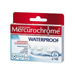 Mercurochrome Waterproof Pansement 16 Pièces