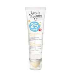 Louis Widmer Kids Skin Protection Cream SPF25 Zonder Parfum 25ml + Lipstick SPF50