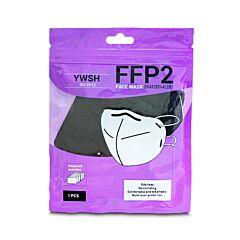 YWSH Masques Buccaux FFP2 - Noir - Approuvés CE - 20 Pièces
