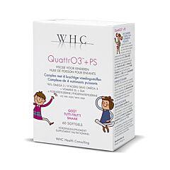 QuattrO3 + PS Huile de Poisson pour Enfants 60 Softgels