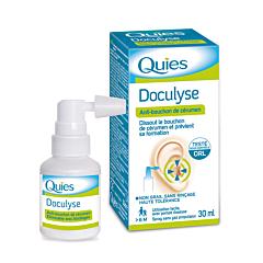 Quies Doculyse Anti-Bouchon de Cérumen Spray Sans Gaz Propulseur 30ml