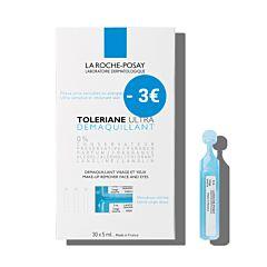 La Roche-Posay Toleriane Ultra Reiniging Gelaat/ Ogen 30x5ml Ampullen Promo - €3