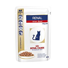 Royal Canin Veterinary Diet Renal au Boeuf Feline Chat 85g