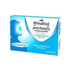 Rhinathiol Antirhinitis Rhumes Rhinites Sinusites 40 Comprimés