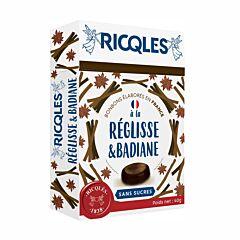 Ricqles Bonbons Réglisse & Badiane Sans Sucres 40g