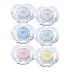 Avent Fopspeen Transparant Silicone 3-6M 2 Stuks