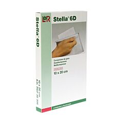 Stella 6D Compresses de Gaze Stériles 10x20cm 5 Pièces