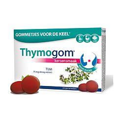 Thymogom Gommes pour la Gorge Goût Cerise Sans Sucre 24 Pièces