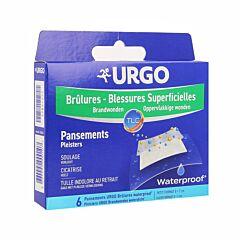 Urgo Brûlures/Blessures Superficielles Pansements Waterproof - 5x7cm - 6 Pièces
