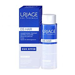 Uriage DS Hair Shampooing Traitant Antipelliculaire 200ml + Shampooing Doux Equilibrant 200ml PROMO PACK