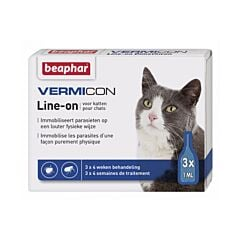 Beaphar Vermicon Line-On Chats 3 Pipettes x 1ml