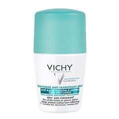 Vichy Déodorant Anti-Transpirant 48h Anti-Traces Jaunes et Blanches Roll-On 50ml